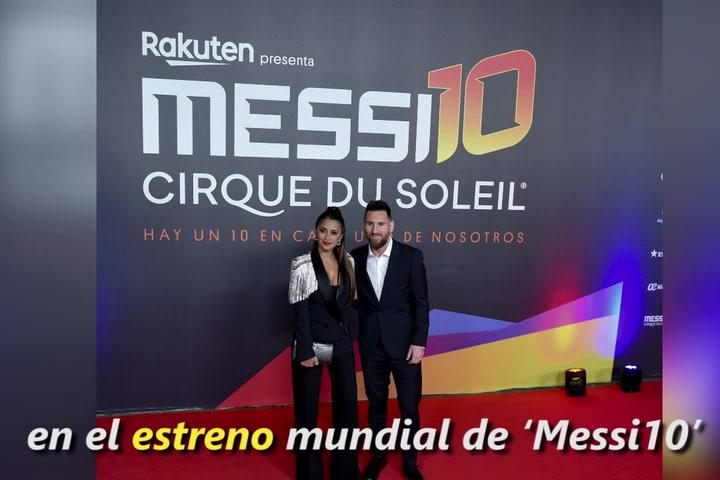Messi y Antonela comparten con sus fans la velada del nuevo espectáculo de Cirque du Soleil