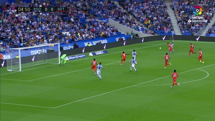 Gol de Mikel Merino (1-0) en el Real Sociedad 1-2 Getafe