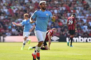 'Kun' Agüero marca doblete y el Manchester City vence al Bournemouth de visita