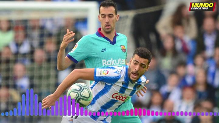 """Busquets dijo del árbitro Alberola Rojas que """"ha visto el penalti a Piqué y no lo ha querido pitar"""""""