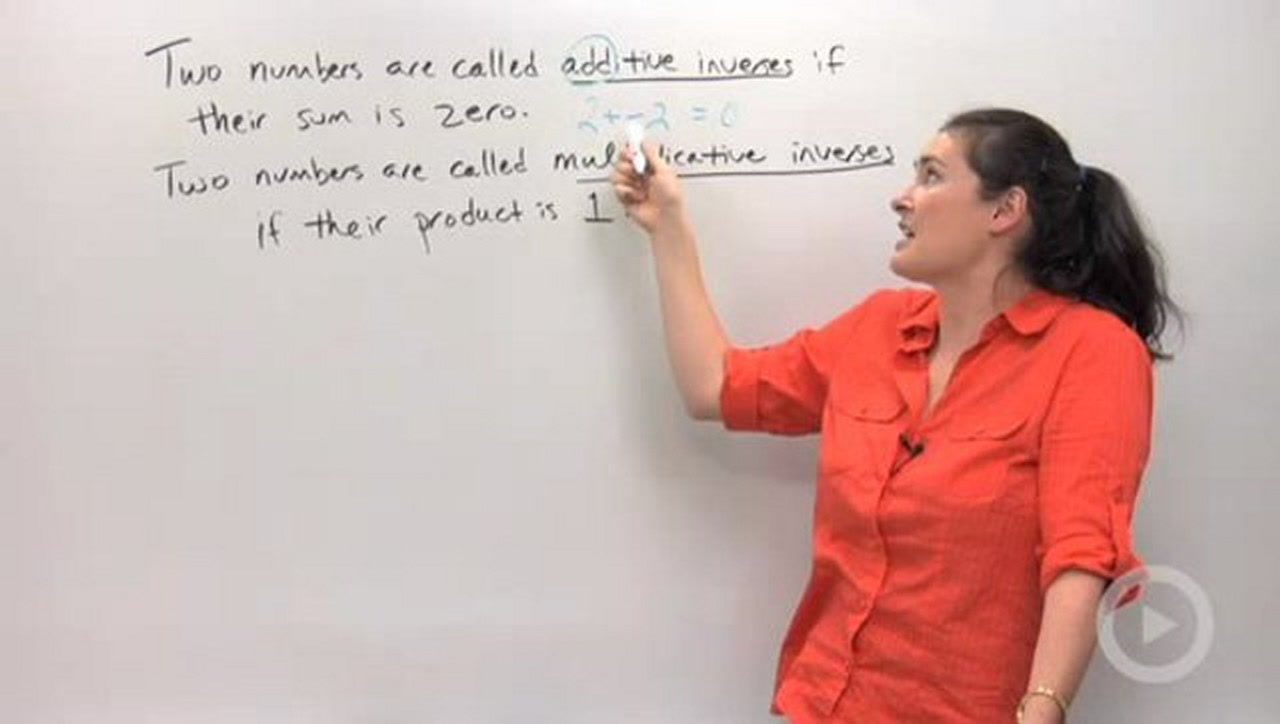Additive And Multiplicative Inverses Concept Algebra Video By