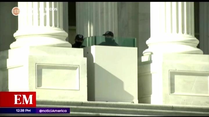Alerta máxima en Washington por cambio de mando