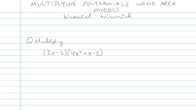 Multiplying Polynomials using Area Models - Problem 4