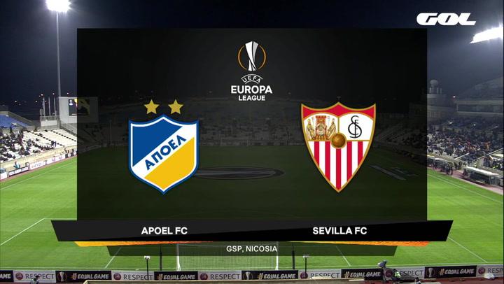Europa League Resumen y Goles del Apoel Nicosia-Sevilla