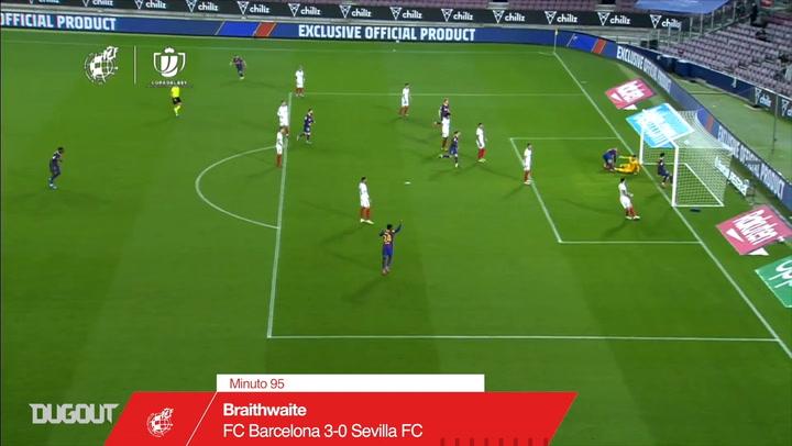 Braithwaite's decisive goal vs Sevilla