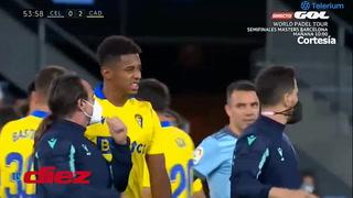 Choco Lozano figura en el Cádiz: Anota, provoca un penal ante el Celta, pero sale lesionado en el segundo tiempo