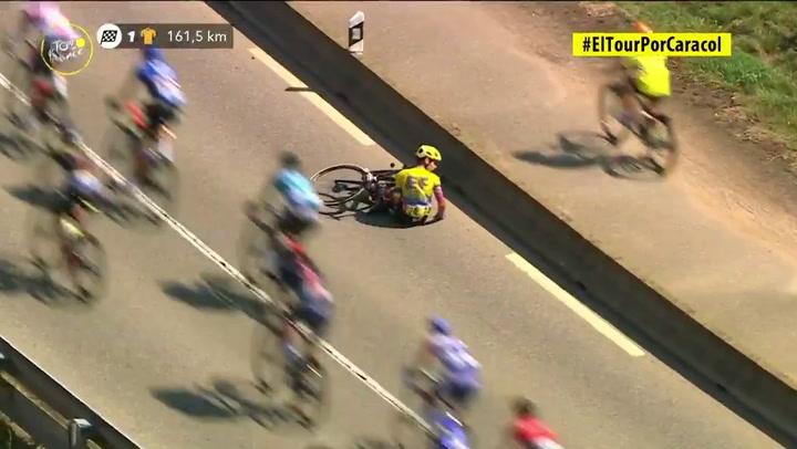 Higuita abandona el Tour tras sufrir una doble caída en la 15ª etapa