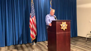Las Vegas police briefing on shooting during Black Lives Matter protest