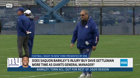 Does Saquon's injury buy GM Dave Gettleman more time?