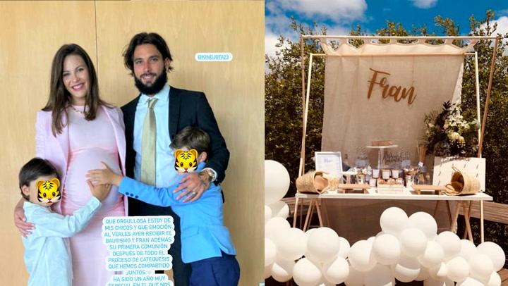 Kiko Rivera y Jessica Bueno se reencuentran en la comunión de su hijo Fran celebrada en Bilbao