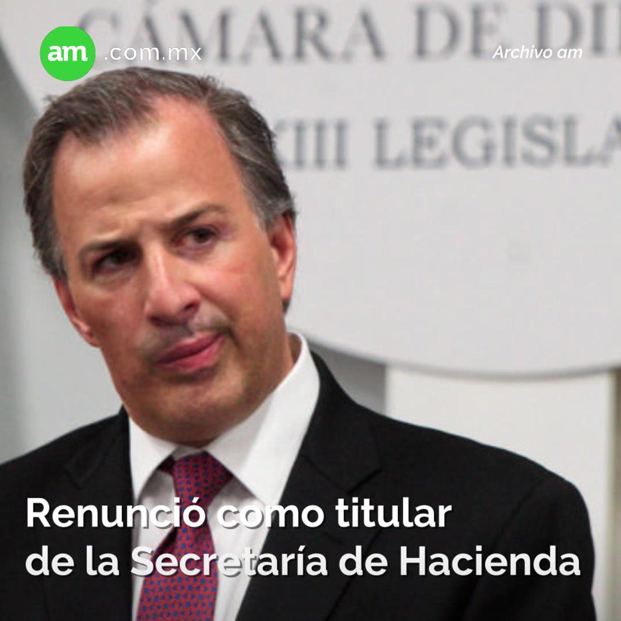 Deja Meade Secretaría de Hacienda para ser candidato del PRI