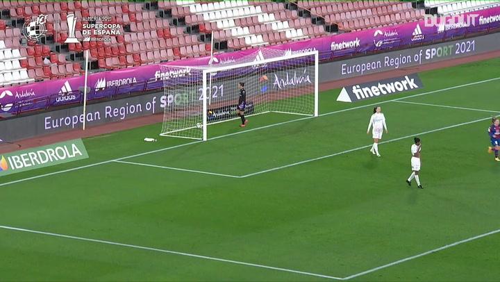 El golazo de Eva Navarro con el Levante en la Supercopa de España Femenina