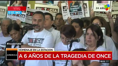 Familiares de las víctimas de Once piden justicia a seis años de la tragedia