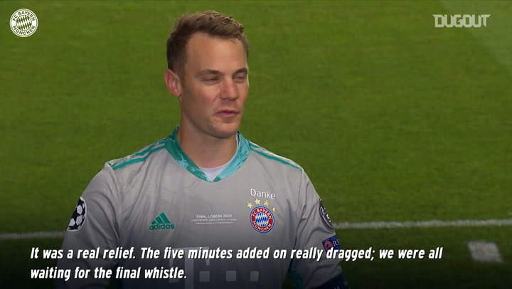 Manuel Neuer reacts to incredible Champions League final display