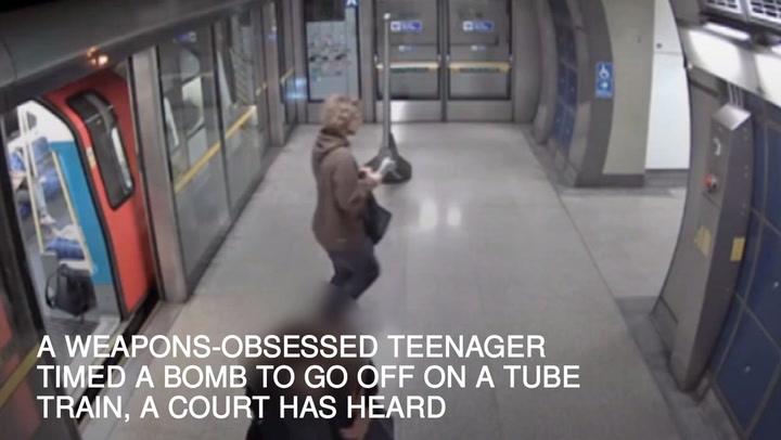 teen getting caught train