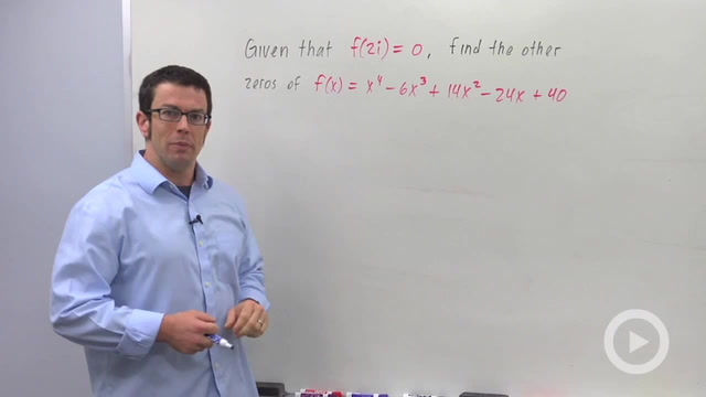 Using the Conjugate Zeros Theorem - Problem 1