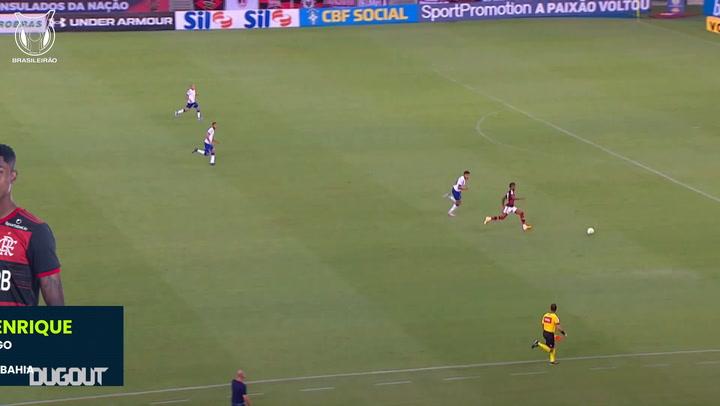 Bruno Henrique's skilful dribble vs Bahia