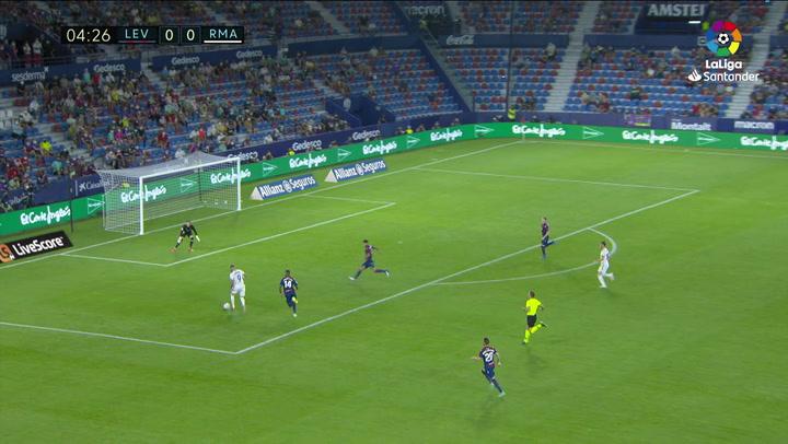 Gol de Bale (0-1) en el Levante 3-3 Real Madrid
