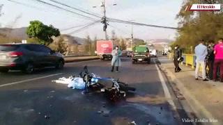 Motociclista pierde la vida al ser embestido por cisterna de agua