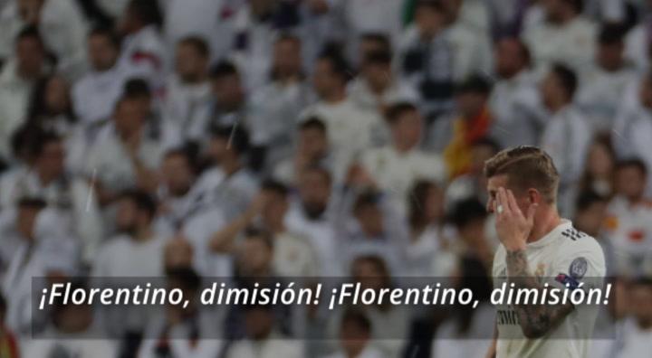 Así sonaba el Bernabéu: ¡Florentino, dimisión!