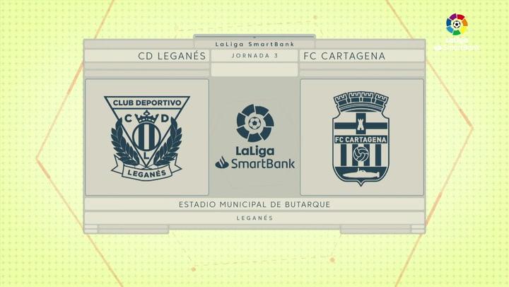 LaLiga SmartBank (J.3): Leganés 3-1 Cartagena