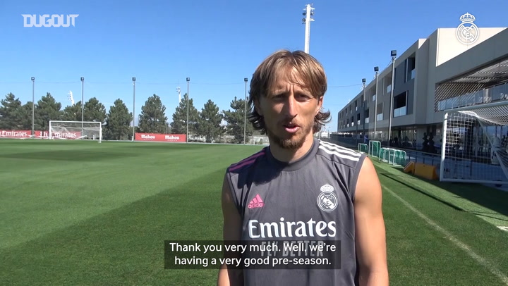 Modric: 'We're working hard for what awaits us this season'
