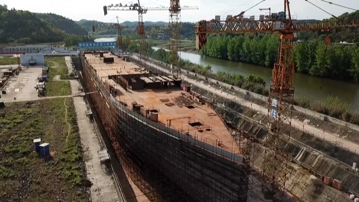 Full-size replica of Titanic being built in China