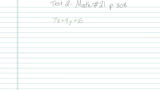Test 2 - Math - Question 21