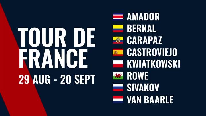 El equipo Ineos para el Tour de Francia sin Froome