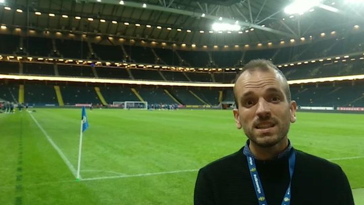 El último entrenamiento de la selección antes de medirse a Suecia