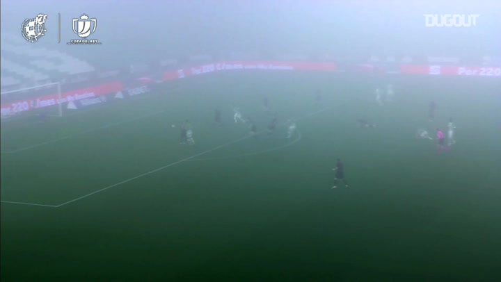 Canales's classy turn and finish in foggy Copa del Rey tie
