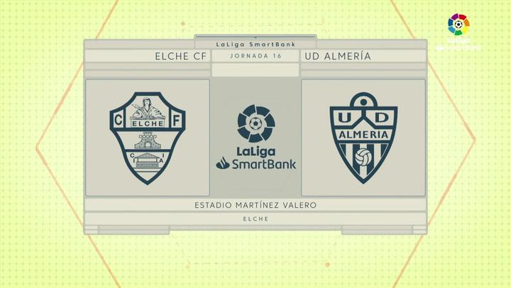LaLiga SmartBank (J16): Resumen y goles del Elche 1-1 Almería