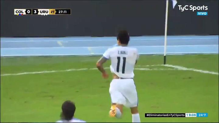 Golazo del uruguayo Darwin Núñez ante Colombia
