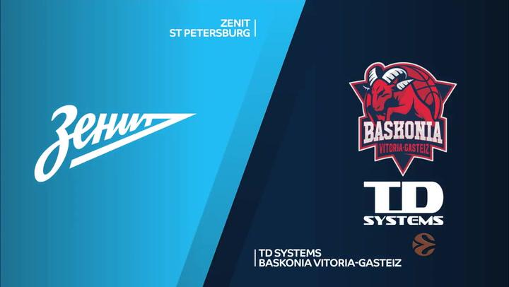 Euroliga: Zenit St Petersburg - TD Systems Baskonia Vitoria-Gasteiz