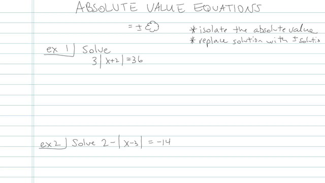 Absolute Value Equations - Problem 5
