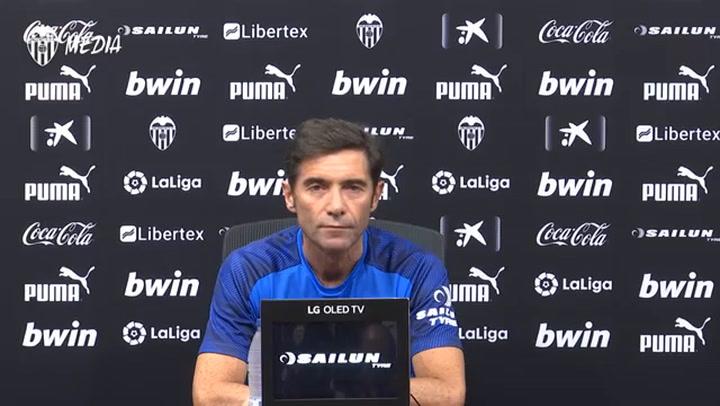 La rueda de prensa de Marcelino García (Valencia)