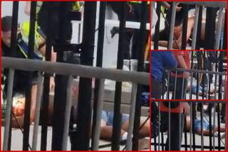 Una persona herida tirado en el suelo: Los momentos de tensión que se vivieron tras el Motagua-Olimpia en Nueva Jersey