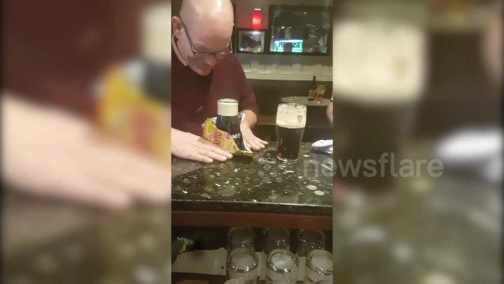 Pubgoer Has A Good Trick For Flipping A Guinness Without Spilling A Drop