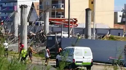 Mueren 6 obreros al desplomarse una obra en Santa Teresita
