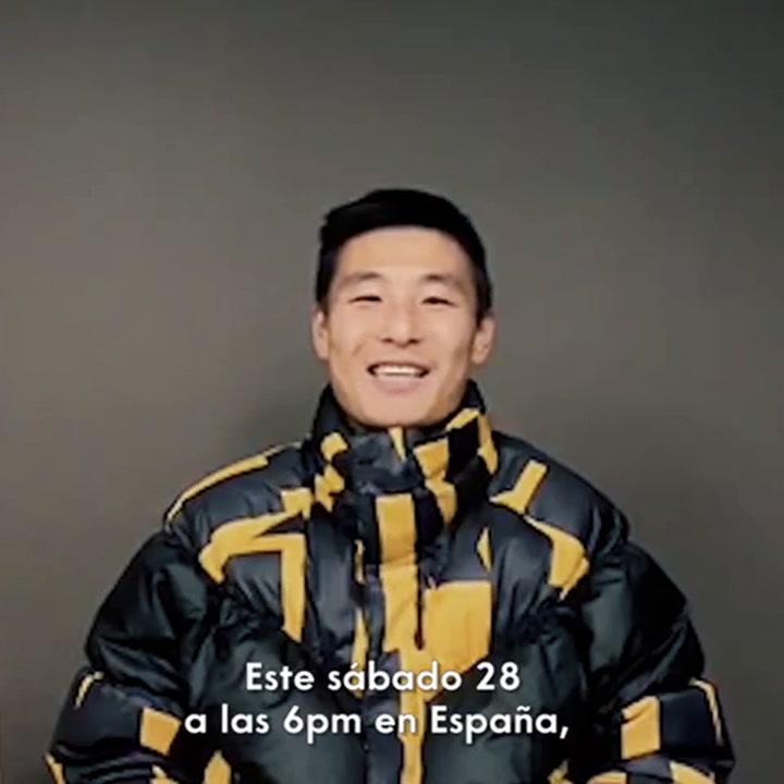 El futbolista chino del Espanyol Wu Lei presenta LaLiga Fest