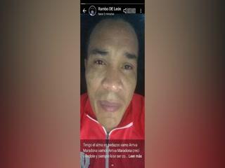 Las palabras y lágrimas de Rambo de León tras el fallecimiento de Maradona