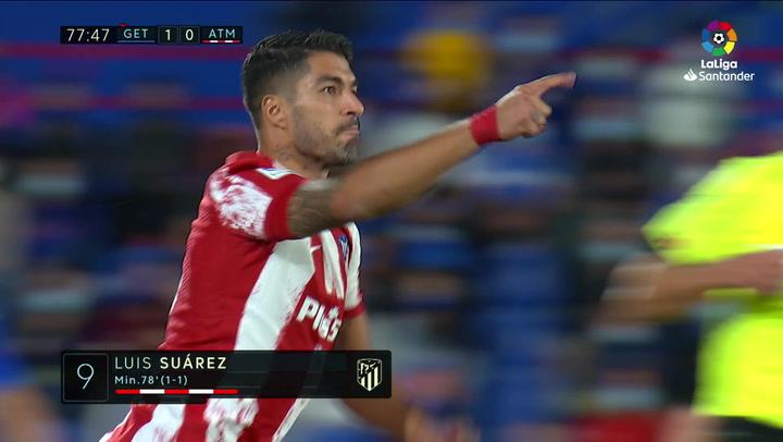 Luis Suárez salió al rescate del Atlético con un doblete en 12 minutos de puro killer