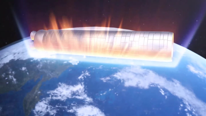 Chinese rocket crashes back to Earth