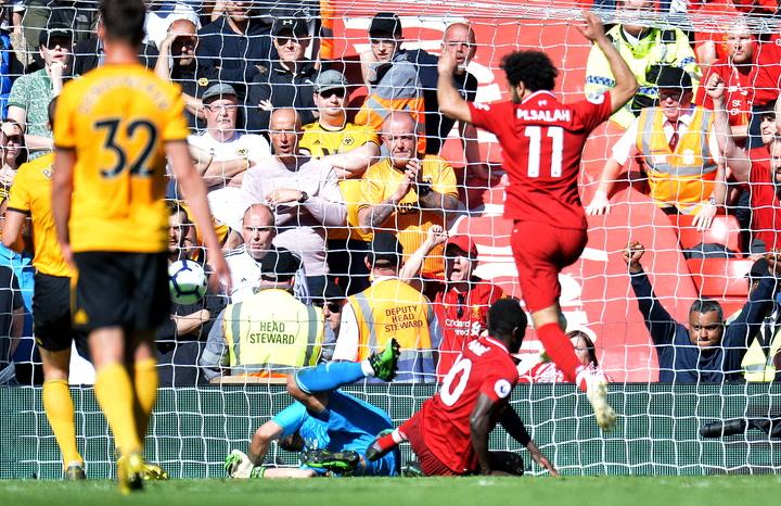Mané y Salah igualaron con Aubameyang en la Bota de Oro inglesa