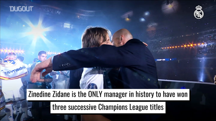 Zinedine Zidane's coaching success at Real Madrid