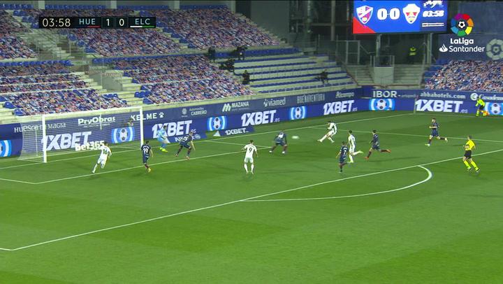 Gol de Vavro (p.p.) (1-1) en el Huesca 3-1 Elche