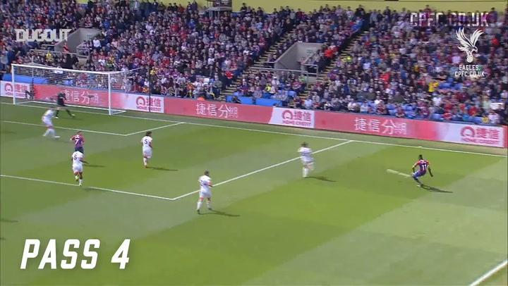 Wilfried Zaha's Five Goal Contributions Vs Bournemouth