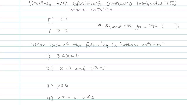 Solving and Graphing Compound Inequalities - Problem 5