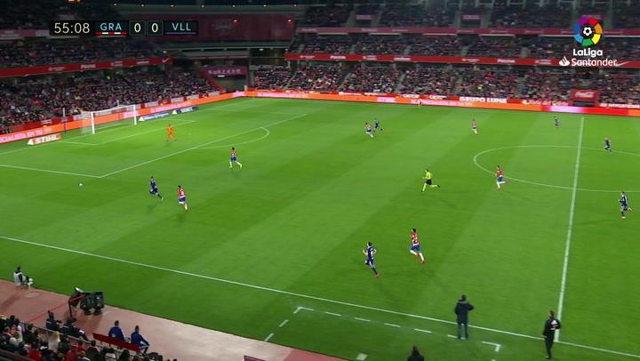 Gol de Sergi Guardiola (0-1) en el Granada 2-1 Valladolid