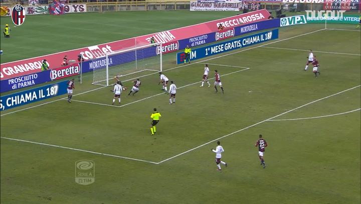 Bologna's last home goals vs Torino